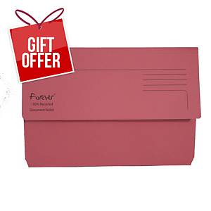EXACOMPTA Forever Document Wallets 290gsm A4+ Pink - Pack Of 25