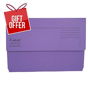EXACOMPTA Forever Document Wallets 290gsm A4+ Purple - Pack Of 25