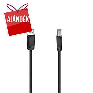 Hama USB kábel, típus: A-B, 5 m, szürke