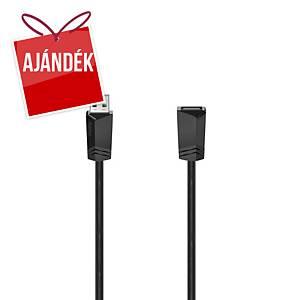 Hama USB hosszabbító kábel, típus: A -A, 3 m, szürke