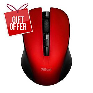 TRUST 21871 MYDO SILENT W/LESS MOUSE RED