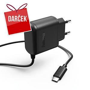 Sieťová nabíjačka Hama, USB-C, 5 V/3 A, 1 m, čierna