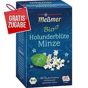 Tee Meßmer Bio Holunderblüte-Minze, 20 Beutel
