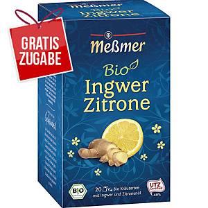 Tee Meßmer Bio Ingwer-Zitrone, 20 Beutel