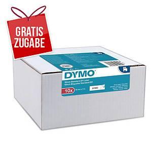 Dymo D1 Band, 12 mm x 7 m, schwarz/weiß