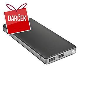 Powerbanka Trust Primo Thin, 10 000 mAh, 2 x USB-A, čierna