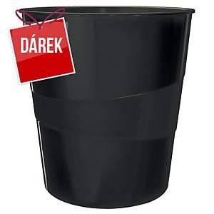 Odpadkový koš Leitz WOW 15 l, černý