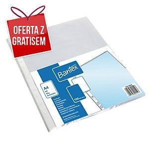 Koszulki groszkowe BANTEX, A4, 40 mikronów, 100 sztuk
