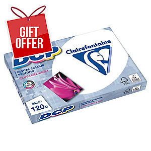 CLAIREFONTAINE 1845 DCP PAPER A3 120 G WHITE - REAM OF 250 SHEETS