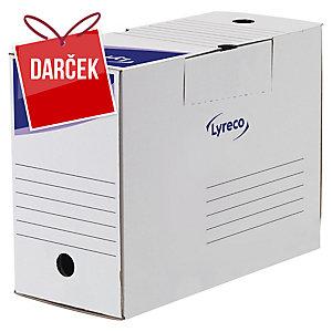 Archivačná prenosná krabica 15 cm Lyreco biela, balenie 25 kusov