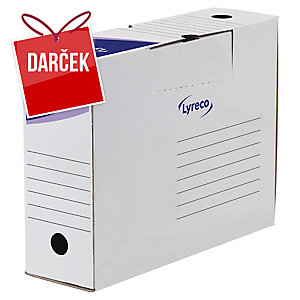 Archivačná prenosná krabica 10 cm Lyreco biela, balenie 25 kusov