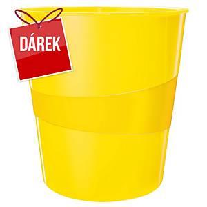 Odpadkový koš Leitz WOW 15 l, žlutý