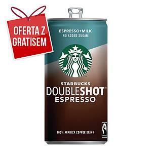 Napój STARBUCKS Doubleshot Espresso bez cukru, 12 puszek x 200 ml