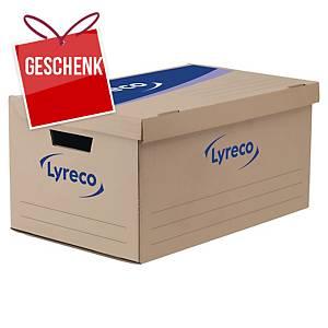 Archivbox Lyreco, B552xT354xH278 mm, braun, Packung à 10 Stück