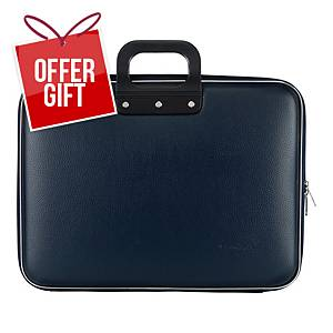 BOMBATA MAXI BRIEFCASE 17  NAVY BLUE