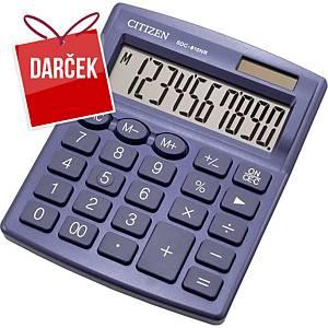 Stolová kalkulačka Citizen SDC810NR, 10-miestny displej, modrá