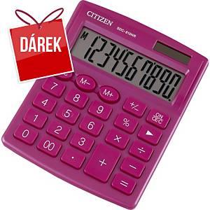 Stolní kalkulačka Citizen SDC810NR, 10-místný displej, růžová