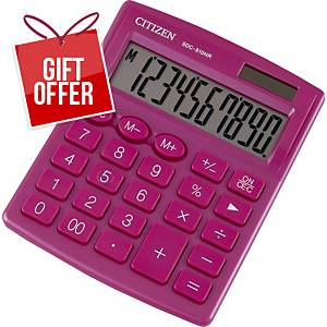 CITIZEN SDC810NR CALC 10-DIG PINK