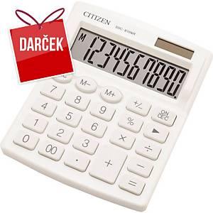 Stolová kalkulačka Citizen SDC810NR, 10-miestny displej, biela
