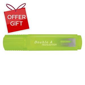 DOUBLE A FLAT HIGHLIGHTER BRIGHT YELLOW