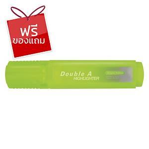 Double A ปากกาเน้นข้อความ รุ่นFlatสีเหลืองนีออน