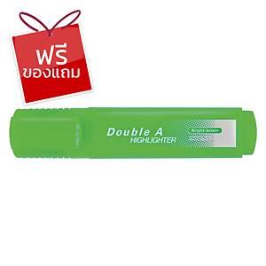 Double A ปากกาเน้นข้อความ รุ่นFlatสีเขียวนีออน