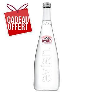 Eau Evian 75 cl - carton de 12 bouteilles verre