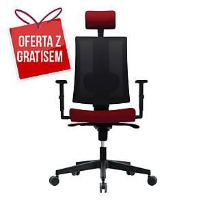 Krzesło biurowe NOWY STYL REVOLTA, bordowe