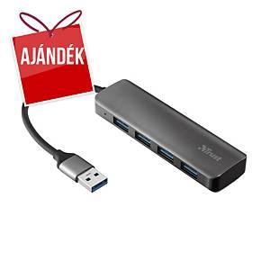 Trust Halyx Aluminium 4 portos elosztó USB-A
