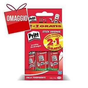 Colla stick Pritt 22 g - conf. 2 + colla 11 g in omaggio