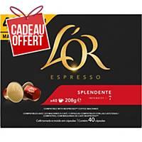 Café L Or Espresso Splendente - paquet de 40 capsules