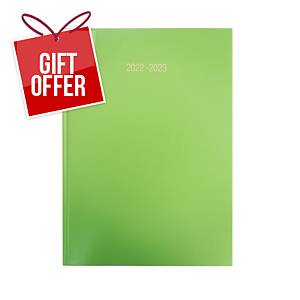 Lyreco Lime Green A4 Academic Diary - Page a Day