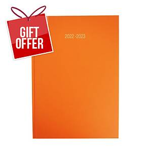 Lyreco Orange A4 Academic Diary - Page a Day