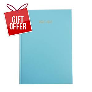 Lyreco Sky Blue A4 Academic Diary - Page a Day