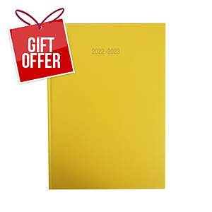 Lyreco Yellow A4 Academic Diary - Page a Day