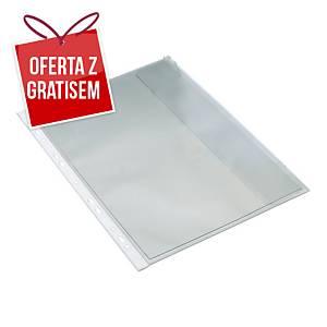Koszulka BANTEX z klapką boczną A4, 120 mikronów, 10 sztuk