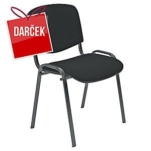 Konferenčná stolička Nowy Styl Entero, čierna