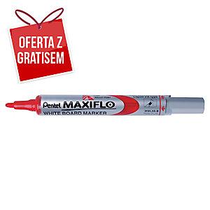 Marker suchościeralny PENTEL Maxiflo MWL5S, okrągła końcówka, czerwony