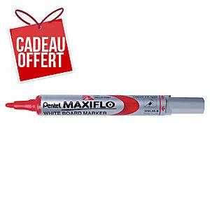 Marqueur Pentel Maxiflo - effaçable à sec - pointe ogive moyenne - rouge