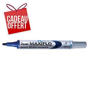 Marqueur tableau blanc Pentel Maxiflo - pointe ogive fine - bleu