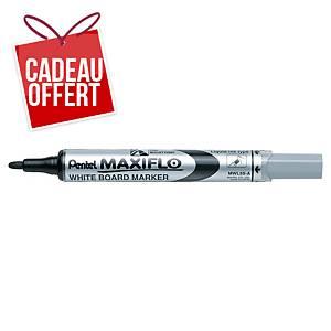 Marqueur tableau blanc Pentel Maxiflo - pointe ogive fine - noir