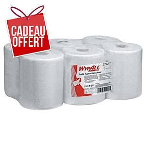 Papier d essuyage WypAll Reach - 1 pli - blanc - 6 bobines