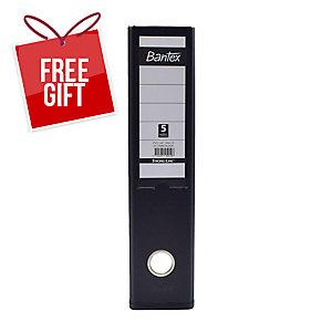 Bantex PVC Lever Arch File A4 3 inch Black