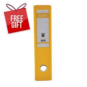 Bantex PVC Lever Arch File A4 3 Inch Yellow