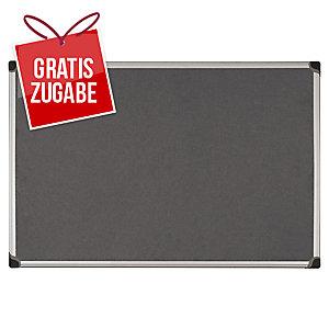 Textiltafel Bi-Silque FA0342170, Maße: 90 x 60cm, grau