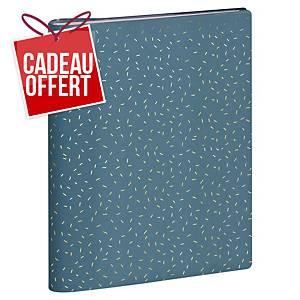Agenda semainier Exacompta Méline 22S - 2020/2021 - 18 x 22 cm - bleu canard