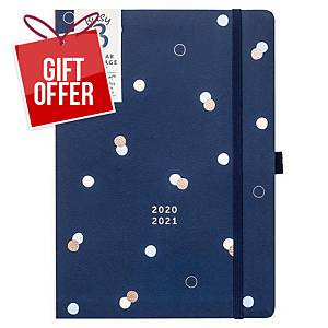 BUSY B Day A Page Academic Diary A5 Navy
