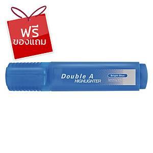 Double A ปากกาเน้นข้อความ รุ่นFlatสีฟ้านีออน
