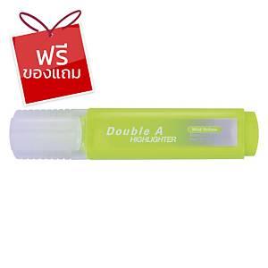 Double A ปากกาเน้นข้อความ รุ่นFlatสีเหลืองพาสเทล