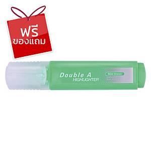 Double A ปากกาเน้นข้อความ รุ่นFlatสีเขียวพาสเทล